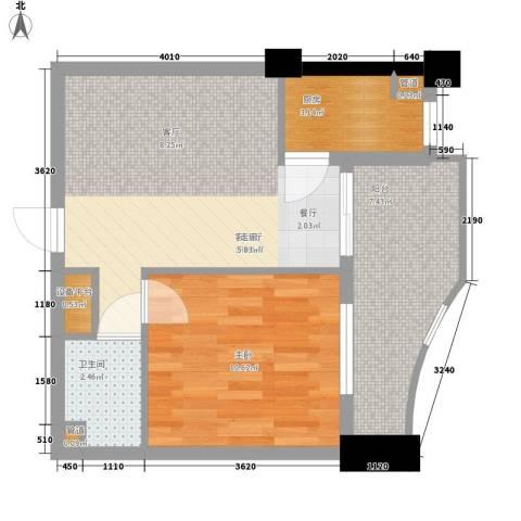 芙蓉公馆1室1厅1卫1厨59.00㎡户型图