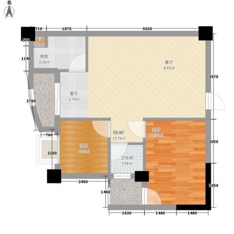 芙蓉公馆2室1厅1卫1厨73.00㎡户型图