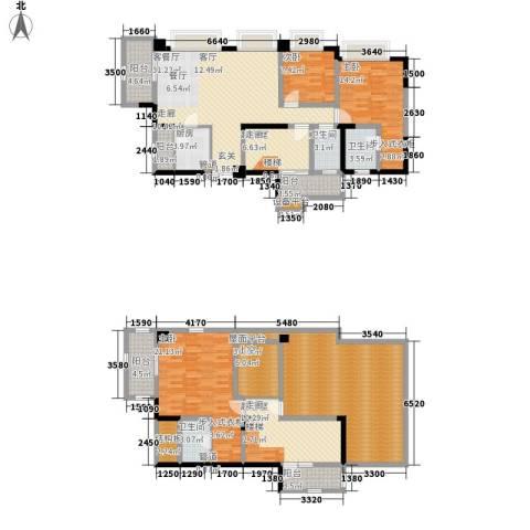 南钻威尼斯3室1厅3卫1厨197.00㎡户型图