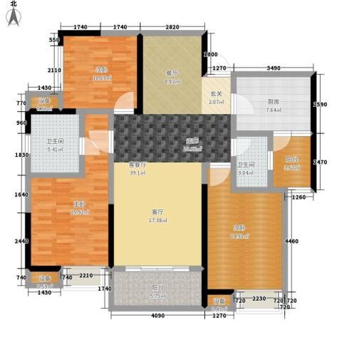 城市印象3室1厅2卫1厨107.44㎡户型图