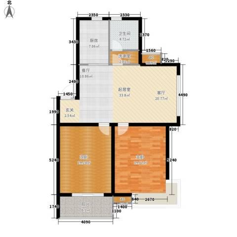怡馨花园2室0厅1卫1厨102.00㎡户型图