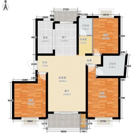 怡馨花园3室0厅2卫1厨126.00㎡户型图
