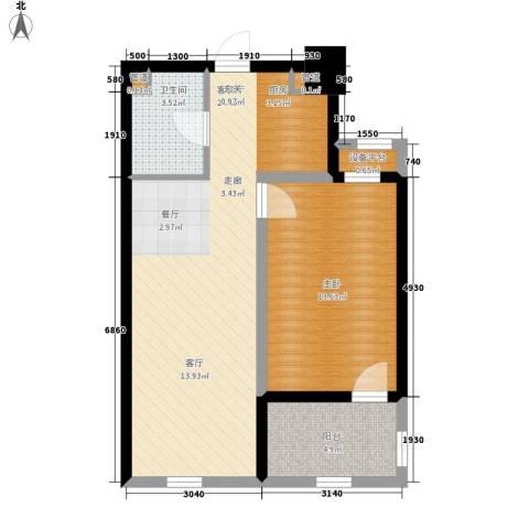紫金苑1室1厅1卫0厨70.00㎡户型图