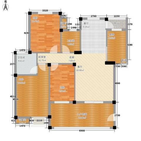 薇湖水岸3室0厅2卫1厨119.00㎡户型图