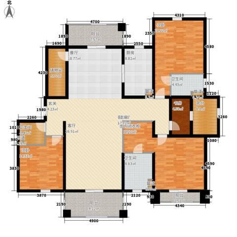 棕榈湾4室1厅3卫1厨201.00㎡户型图
