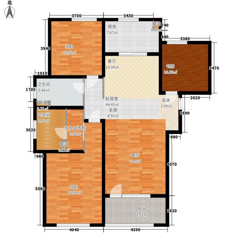 天安尚城135.00㎡二期C3户型3室2厅