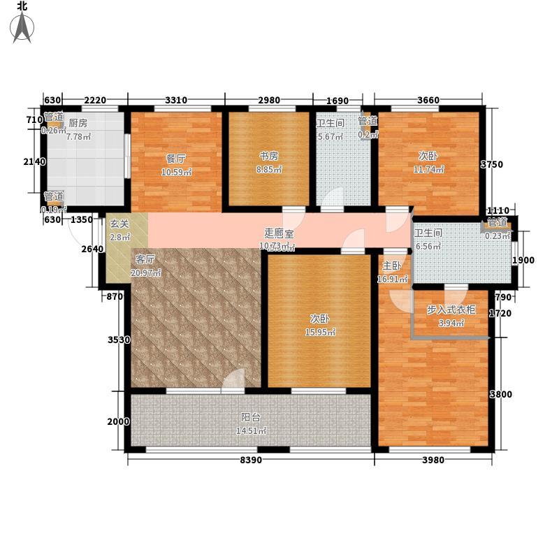 天安尚城160.00㎡二期D4户型4室2厅