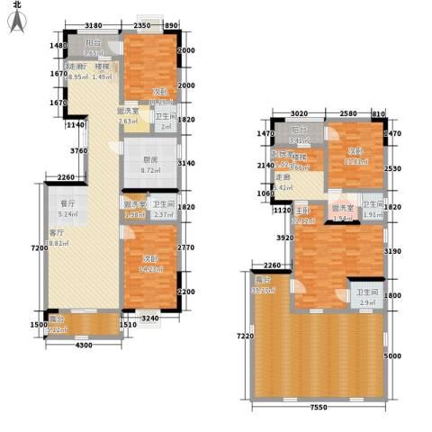 山水霖城4室1厅4卫1厨203.00㎡户型图