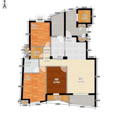 小施家弄3室0厅2卫1厨130.00㎡户型图