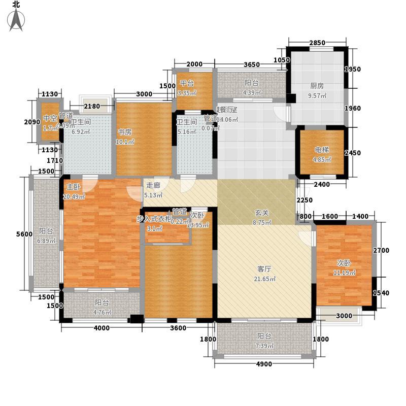 华侨城188.00㎡D户型4室2厅