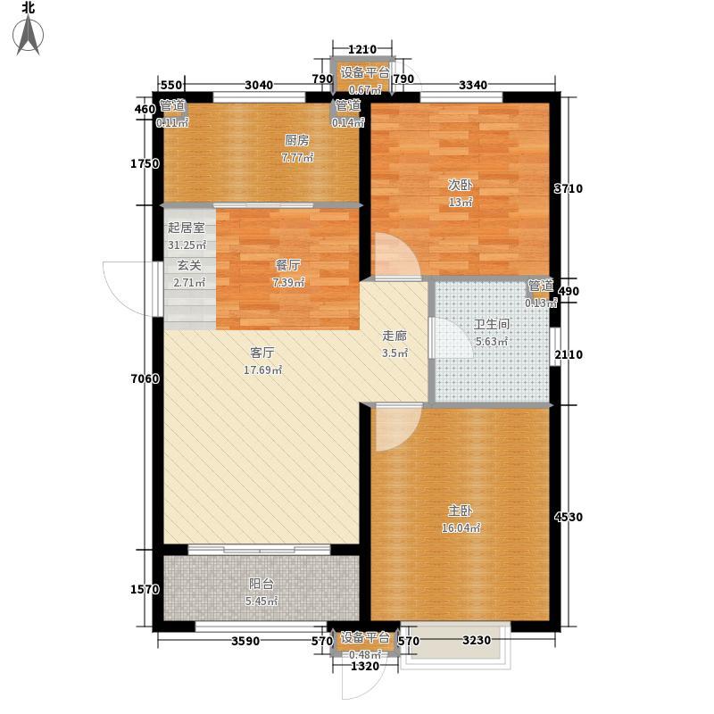 银盛泰星河城三期90.00㎡C户型2室2厅