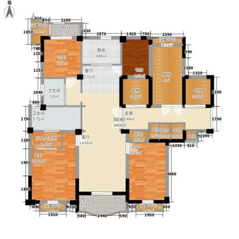 维科龙湾府4室1厅2卫1厨140.00㎡户型图
