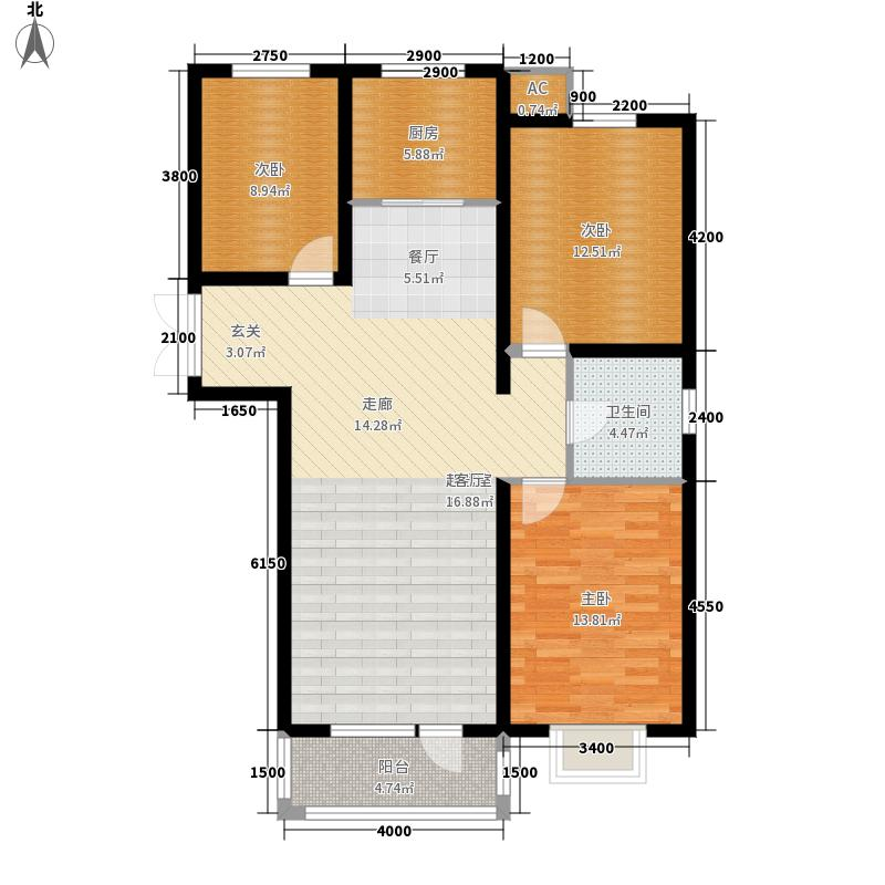 浪淘沙1号116.81㎡A户型3室2厅