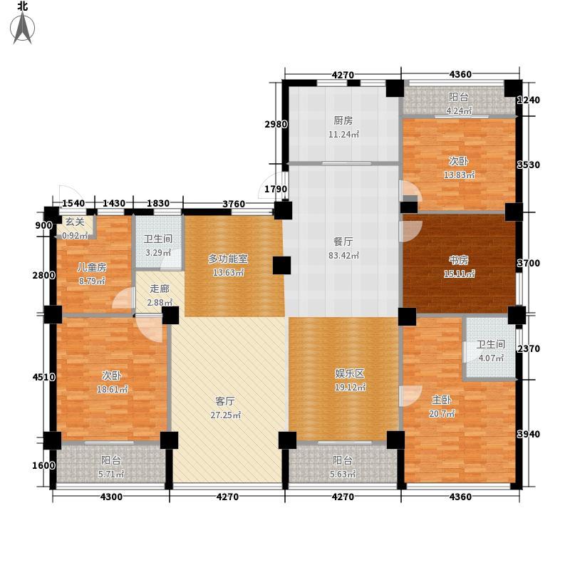 梅龙枫香庭院215.00㎡D2面积21500m户型