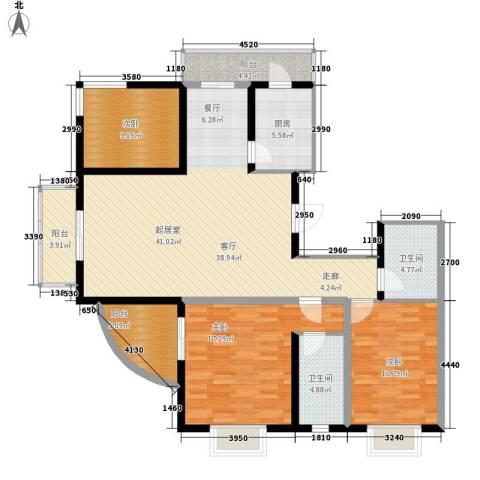 富水一方3室0厅2卫1厨158.00㎡户型图
