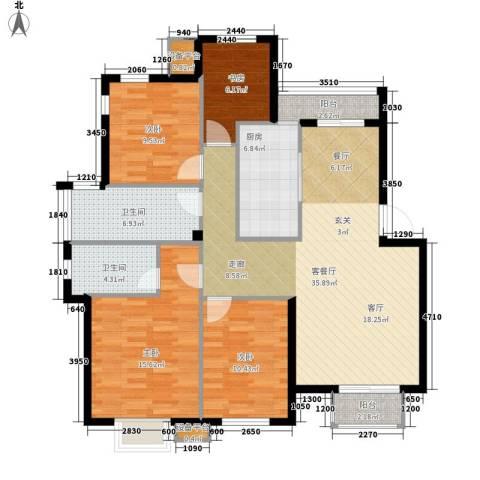 21码头4室1厅2卫1厨143.00㎡户型图