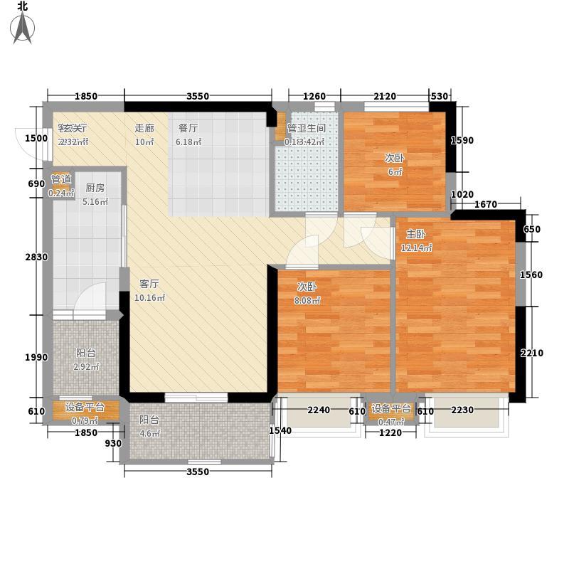 锦绣天伦花园13座1梯03单位户型3室2厅