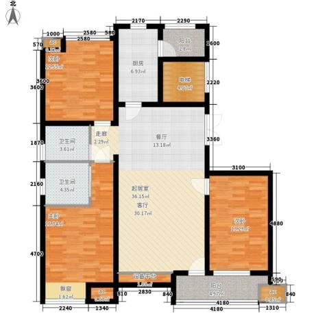 蓝海嘉苑3室0厅2卫1厨155.00㎡户型图