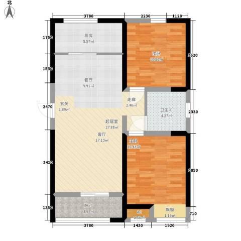 融科上城2室0厅1卫1厨94.00㎡户型图