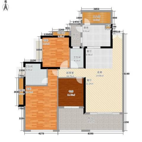 城启天鹅湾3室0厅2卫1厨165.00㎡户型图