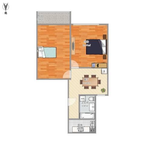 平南一村2室1厅1卫1厨75.00㎡户型图