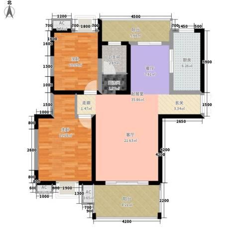 曲江观邸2室0厅1卫1厨110.00㎡户型图