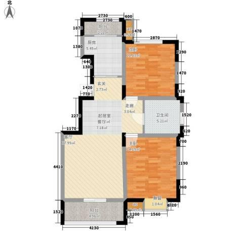 融科上城2室0厅1卫1厨104.00㎡户型图