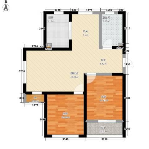 融科上城2室0厅1卫1厨97.00㎡户型图