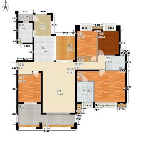 中海胥江府4室1厅2卫1厨190.00㎡户型图
