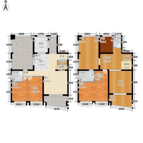 中海胥江府3室1厅3卫1厨246.00㎡户型图