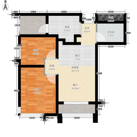 Park Tower 景杉2室0厅1卫1厨100.00㎡户型图