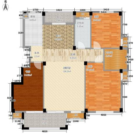 天怡嘉苑3室0厅2卫0厨138.00㎡户型图