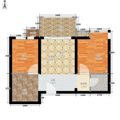 新旅城2室0厅1卫0厨66.00㎡户型图