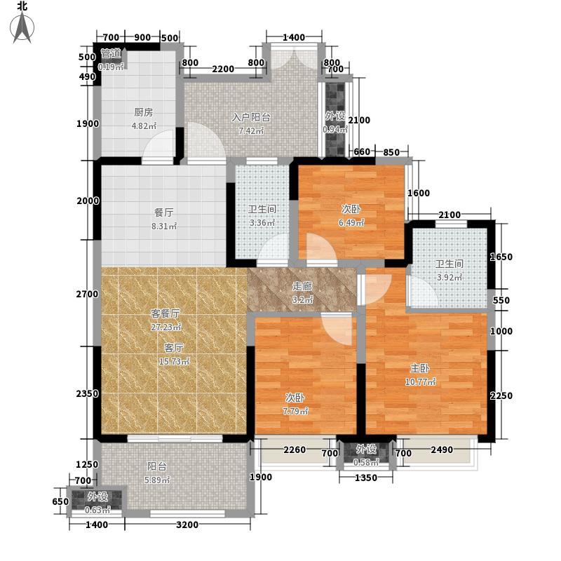 领馆国际城119.08㎡一期一批次5号楼标准层B-3户型