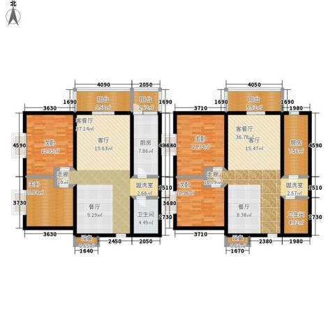 东郡名座4室2厅2卫2厨163.25㎡户型图