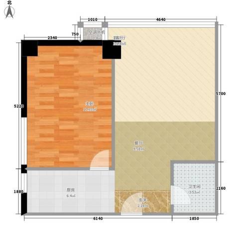 QQ生活馆1室1厅1卫0厨76.00㎡户型图