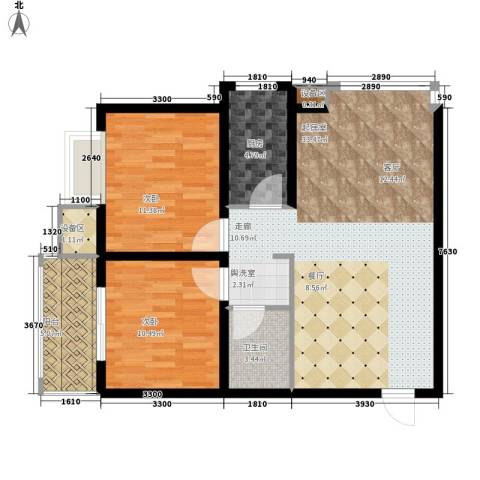 新旅城2室0厅1卫1厨85.00㎡户型图