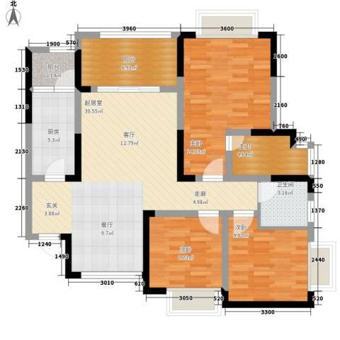 恒春凤凰城3室0厅1卫1厨112.00㎡户型图