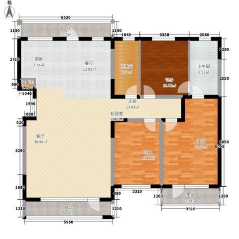 南门城根3室0厅2卫0厨138.90㎡户型图
