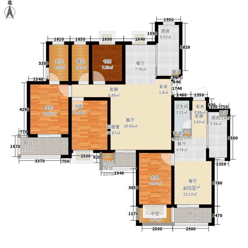 火炬东第113.90㎡公寓户型3室2厅2卫