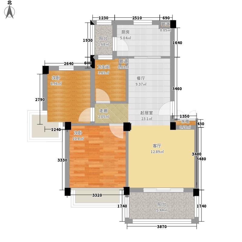 碧桂园生态城78.06㎡J201户型2室2厅