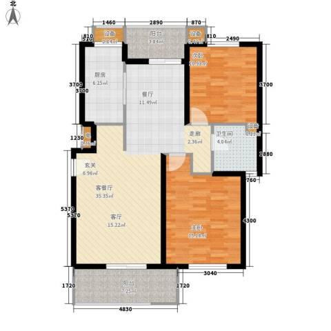 独墅苑2室1厅1卫1厨177.00㎡户型图