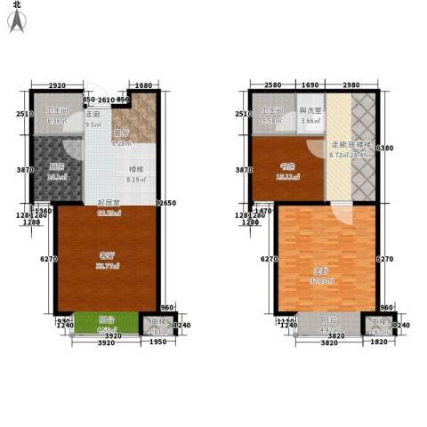 蓝山印象小区2室0厅2卫1厨177.12㎡户型图