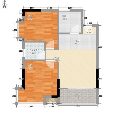 誉轩2室0厅1卫1厨73.00㎡户型图