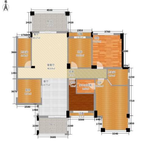 共和世家4室1厅2卫1厨170.00㎡户型图