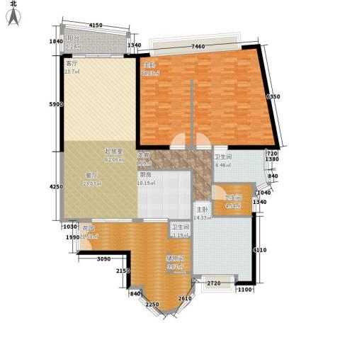 中信君庭2室0厅3卫0厨177.00㎡户型图