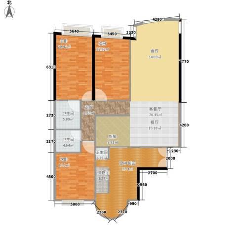 中信君庭3室1厅2卫0厨179.00㎡户型图