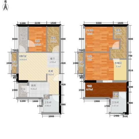 庄士新都别墅3室0厅2卫0厨112.00㎡户型图