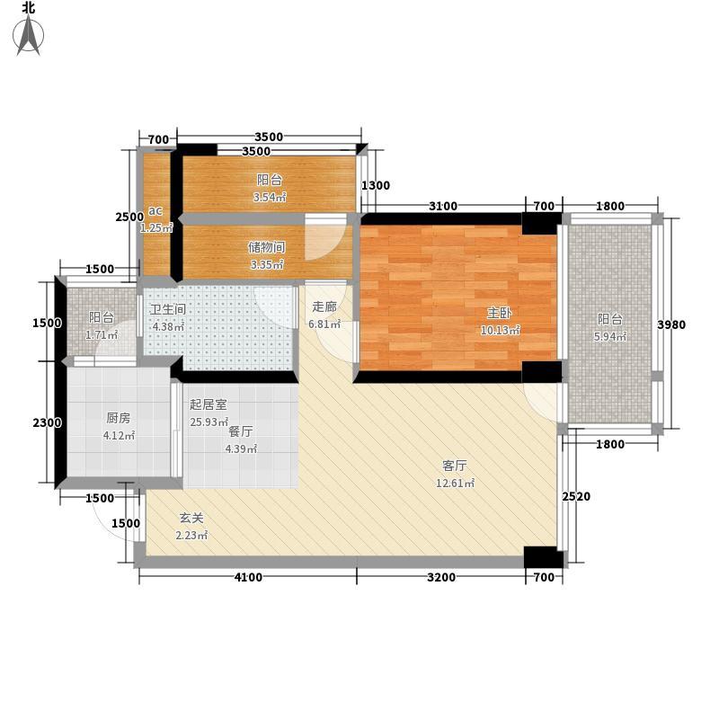 信义御城67.00㎡5栋B-06户型2室2厅
