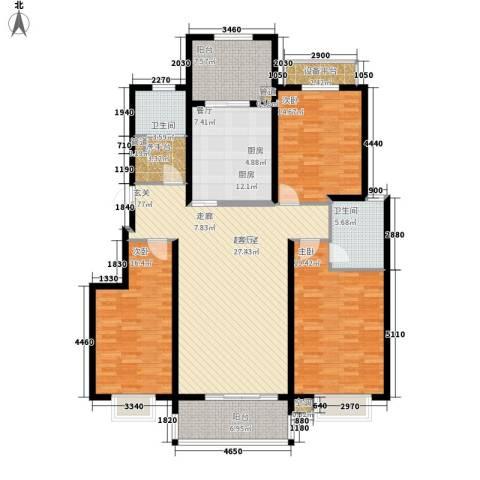 恬静园3室0厅2卫1厨150.00㎡户型图